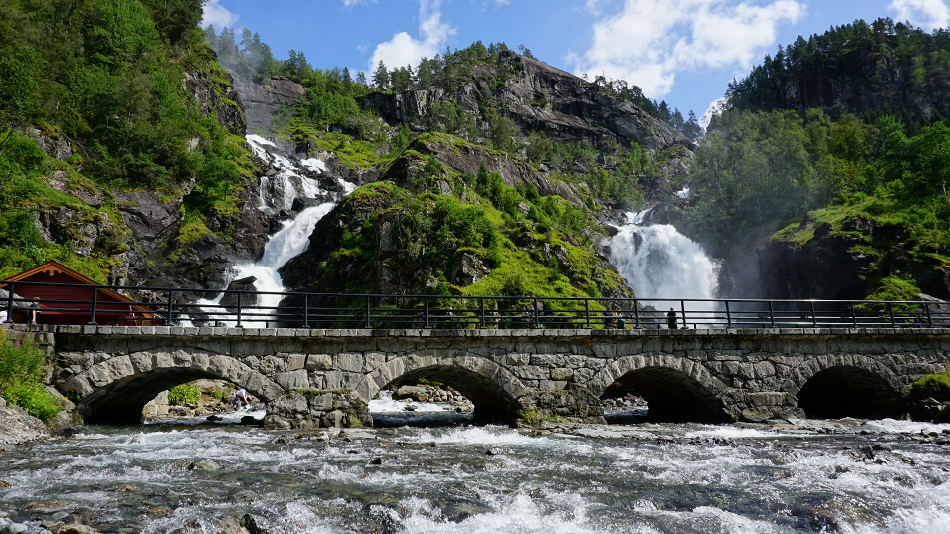 Das Tal der Wasserfälle (Låtefossen)