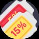15 Prozent Rabatt